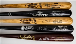 1980s-2000s Signed Professional Model Bat Collection - Lot of 9 w/ Rod Carew, Brian McCann, Nate McClouth & More (MEARS LOA/JSA)