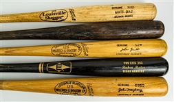 1977-2009 Professional Model Game Used Bat Collection - Lot of 5 w/ John Mayberry, Tim Johnson, John Grubb & More (MEARS LOA)