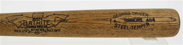 1930-32 Al Simmons Philadelphia Athletics Burke Batrite Professional Model Bat (MEARS A5)