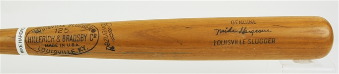 1974-75 Mike Hargrove Texas Rangers H&B Louisville Slugger Professional Model Game Used Bat (MEARS LOA)