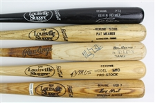 1984-2010 Signed Professional Model Game Used Bat Collection - Lot of 5 w/ Mickey Tettleton, Brian McCann, Pat Meares & More (MEARS LOA/JSA)