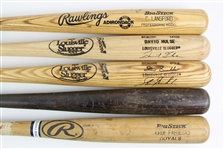 1983-2000 Professional Model Game Used Bat Collection - Lot of 5 w/ Pete OBrien Signed, Carney Lansford Signed. David Hulse Signed & More (MEARS LOA)