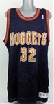1997-98 Eric Williams Denver Nuggets Signed Game Worn Road Jersey (MEARS LOA/JSA)