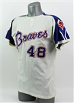 1972 Ralph Garr Atlanta Braves Game Worn Home Jersey (MEARS A9)