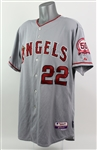 2011 Trevor Bell Los Angeles Angels Game Worn Road Jersey (MEARS LOA)