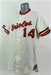 1977 Lee May Baltimore Orioles Game Worn Home Jersey (MEARS A10)