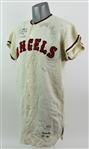 1962 Earl Averill Los Angeles Angels Signed Game Worn Home Jersey (MEARS A8.5/JSA)