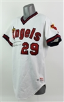 1983 Rod Carew California Angels Signed Home Game Worn Jersey (MEARS A10/JSA)