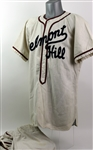 1950s Belmont Hill Game Worn Flannel Baseball Uniform (MEARS LOA)