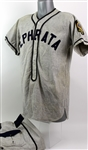 1950s Ephrata American Junior Legion Game Worn Flannel Baseball Uniform (MEARS LOA)