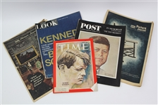 1963-69 John F. Kennedy Robert F. Kennedy Moon Landing Periodical Collection - Lot of 7