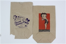 Felix the Cat, Mickey Mouse, & Betty Boop 8x12 Paper Lunch Bags