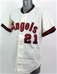 1990 Wally Joyner California Angels Batting Practice Jersey (MEARS LOA)