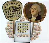 1900s-60s Presidential Memorabilia Collection - Lot of 57 w/ Fans, Pinbacks & More