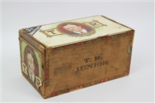 "1901-09 Theodore Roosevelt 26th President of the United States 4.5"" x 5"" x 9"" Wooden Cigar Box"
