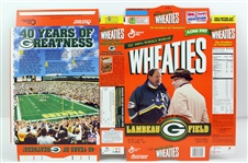 1997 Green Bay Packers Lambeau Field 40 Years of Greatness Unused Wheaties Box