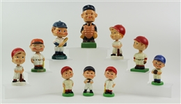 1950s-60s Baseball Vintage Nodder Collection - Lot of 10 w/ 62 Homers, Umpire & More