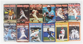 1969-2007 The Sporting News Official Baseball Publication Collection - Lot of 72 w/ Guides, Registers, Record Books & More