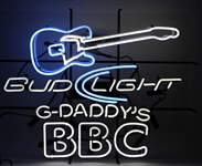 "2000s G-Daddys BBC Bud Light 26"" x 34"" x 5"" Neon Bar Sign"