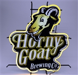 "2010s Horny Goat Brewing Co. 24"" x 27"" x 7"" Neon Bar Sign"