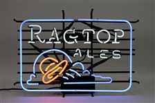 "2010s Ragtop Ales 26"" x 18"" x 7"" Neon Bar Sign Made in New Mexico UFO Design?"