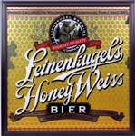 "2000s Leinenkugels Honey Weiss Beer 26"" x 26"" Bar Mirror"