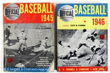 1945-46 AS Barnes & Company Official Baseball Guides Edited by Leslie OConnor