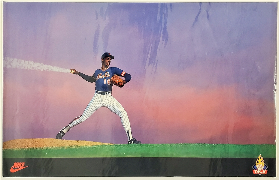 "1980s Dwight ""Dr. K"" Gooden New York Mets Nike 23 x 36 Poster"