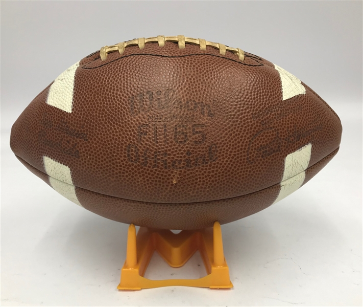 "1966 Paul Hornung Green Bay Packers Store Model Wilson Player Endorsed Football w/ 29"" x 36"" Passing Target & Kicking Tee"