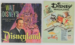 1965 & 1976 Walt Disneys Pictorial Souvenir Book of Disneyland & Disney Magazine