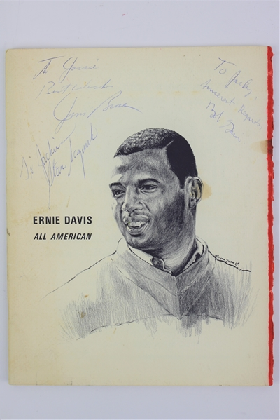 1964 Jim Brown Bob Gain Stan Sczurek Cleveland Browns Signed Ernie Davis Leukemia Fund Memorial Program (JSA)