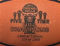 1997 Chicago Bulls Five Time NBA Champions ONBA Stern Commemorative Basketball (310/1000)