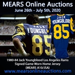 1980-84 Jack Youngblood Los Angeles Rams Signed Game Worn Home Jersey (MEARS A10/JSA)