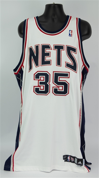 2007-08 Jason Collins New Jersey Nets Home Jersey (MEARS LOA)