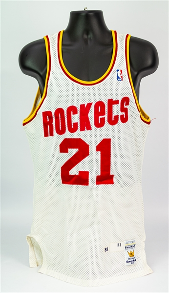 1988-89 Sleepy Floyd Houston Rockets Game Worn Home Jersey (MEARS A10)