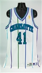 1996-97 Glen Rice Charlotte Hornets Game Worn Home Jersey (MEARS A10)