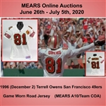 1996 (December 2) Terrell Owens San Francisco 49ers Game Worn Road Jersey (MEARS A10/Team COA)