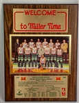"1982-83 Milwaukee Bucks Welcome to Miller Time 12"" x 16"" Team Photo Plaque"