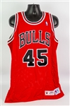 1994-95 Michael Jordan Chicago Bulls Signed Pro Cut #45 Road Jersey (MEARS A5/Upper Deck Authentication/JSA)