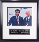"1990s Muhammad Ali Joe DiMaggio Signed 16"" x 17"" Framed Photo Display (JSA)"