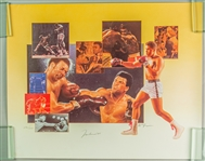 "1990s Muhammad Ali World Heavyweight Champion Signed 18"" x 22"" Lithograph (JSA) 286/500"