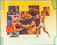 "1990s Muhammad Ali World Heavyweight Champion Signed 18"" x 22"" Lithograph (JSA) 284/500"
