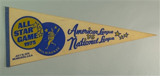"1975 Milwaukee County Stadium All Star Game 30"" Full Size Pennant"