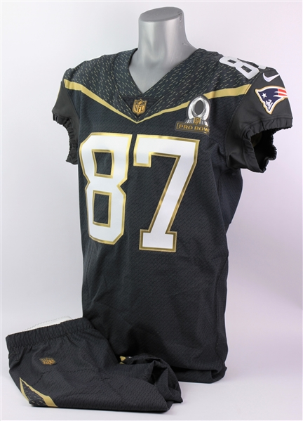 2016 Rob Gronkowski Team Irvin Pro Bowl Issued Uniform (MEARS A5 & PSA/DNA)