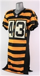 2014 Troy Polamalu Pittsburgh Steelers Throwback Jersey (MEARS A5) Last Season
