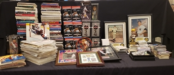 1950s-2000s Baseball, Basketball, Hockey Programs, Media Guides, Photos & more (Lot of 500+)