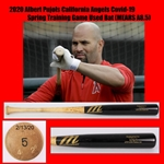 2020 Albert Pujols California Angels Covid-19 Spring Training Game Used Bat (MEARS A8.5)