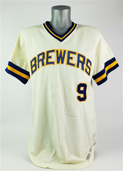 1976 Bobby Mitchell Milwaukee Brewers Home Jersey (MEARS LOA)