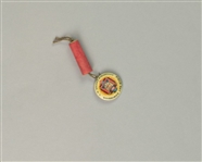 "1920s Field Day Admission Greenfield Center NY 1 1/8"" Whitehead Hoag Pinback Button w/ Firecracker Charm"