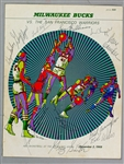 1968-69 Milwaukee Bucks Team Signed Program Cover Page w/ 11 Signatures Including Jon McGlocklin, Wayne Embry, Len Chappell & More (JSA)